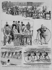 HIGH WHEEL BICYCLE RACE AT MADISON SQUARE GARDEN NEW YORK RIDER TRAINER HEADER