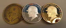x 3 pcs WWII WW2 German Panzer Steel Helmet commemorative coin medallion medal