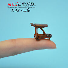 1:48 Scale Miniature Tea Trolley Cart Quality Liquor service 1/48 dollhouse