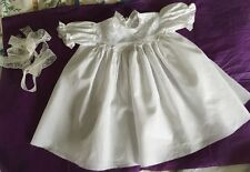 Antique baby dress Ayrshire Whitework Embroidery Hand Made Circa 1880 Excellent