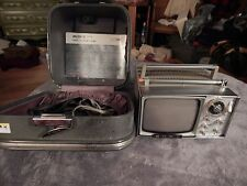 Vintage Sony Model 5-303W Micro T.V. in Case with all connections