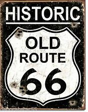 Large Historic ROUTE 66 Shield Weathered Vintage Retro Metal Tin Sign 1938 New