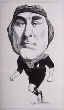 """BILL Cunningham NEW ZEALAND tutti neri CARICATURA stampa 16x12 """" (41x30cm) unframed"""