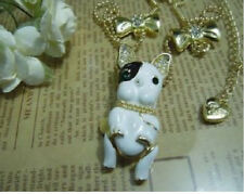 N316 Betsey Johnson - Large - Puppy Doggie Bull Terrier Hound Dog Necklace US