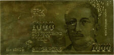 *24 KT GOLD SINGAPORE 1000 DOLLAR *GOLDEN BILL- NICE GIFT IN ACRYLIC SLAB HOLDER