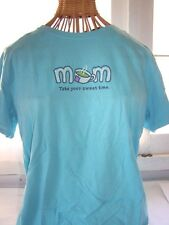 NWT Life Is Good Turquoise Blue Mom T Shirt Small Short Sleeve Cup of Tea