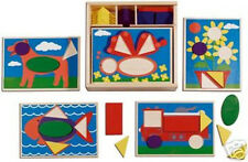 BEGINNER PATTERN WOODEN BLOCKS SET # 528 ~  Melissa & and Doug