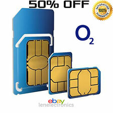 Ufficiali RETE O2 Pay As You Go 02 SIM SIGILLATO chiamate illimitate e testi *