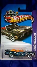 Hot Wheels '70 Pontiac GTO Black Convertible Diecast 1:64 HW Showroom 2012