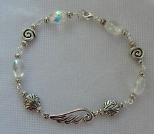 Silver Angel Wing Link Bracelet Jewelry Handmade NEW Accessories Beaded Fashion