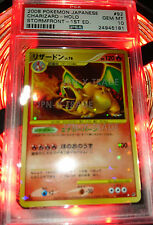 Pokemon charizard stormfront hologram japanese psa 10 2008 1st edition card ex