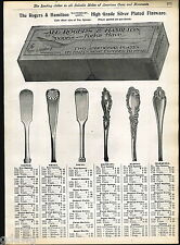 1904 ADVERT Silverware Flatware Rogers & Hamilton Raphael Aldine Merquise Design