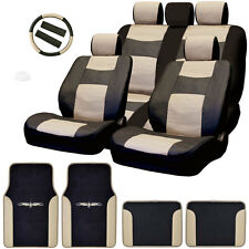New Semi Custom Syn Leather Seat Covers Split Seat Vinyl Mats BT Set For VW