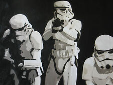Star Wars stormtroopers painting 40x28 Framing avail. Darth Vader Maul Empire
