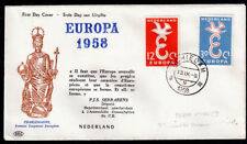 EUROPA CEPT FDC 1958 PAYS BAS 2