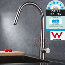 WELS Swivel Retracable Brushed Kitchen Pull Out Faucet Mixer Tap Gooseneck Spout