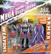 Beetleborgs Metallix - Mega Spectra Platinum Purple With Armor by Bandai (MOC)