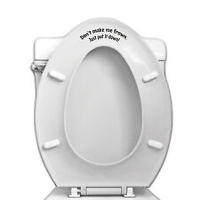 Don't Make Me Frown Toilet Seat Vinyl Decal for Bathroom Toilet for Home Deco...