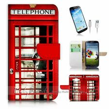 Samsung Galaxy J1 Flip Wallet Case Cover! P0096 British phone Booth