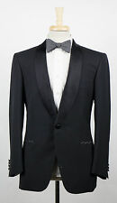 New. BRIONI Colon Black Wool Shawl Collar Tuxedo Suit Size 54/44 L $6895