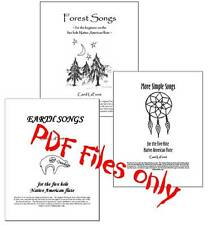PDF files of 3 Song Books for 5 Hole Native American Flute,  59 songs