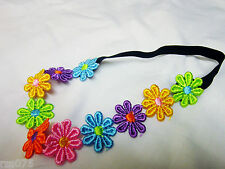 Daisy Hairband Hair Flower Chain Multi Colour Elasticated Headband  Band Girls
