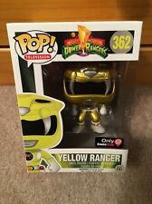 Funko Pop! Yellow Ranger #362 (Metallic) GameStop Exclusive Power Rangers