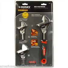 "Husky Multi-Head Wrench 3 tools in 1 replaces adjustable 6"" 8"" 10"""