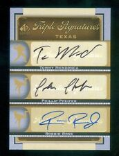 2012 SP Signature Edition Triple Autograph Tommy Mendonca/Pfeifer/Robbie Ross