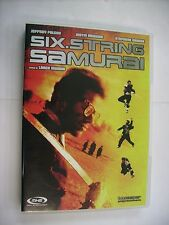 SIX STRINGS SAMURAI - DVD VERY GOOD CONDITION - JEFFREY FALCON - JUSTIN MCGUIRE