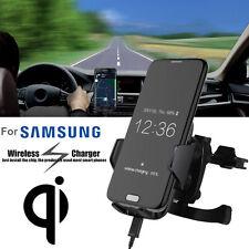Qi Kabellos Auto Ladegeräte Stand Dashboard Air Vent Mount Für Samsung S7 NEUE