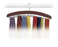 Hardwood Walnut 24 Tie Hanger Closet Accessories Necktie Belt Organizer for Men
