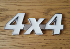 White/Silver Chrome 3D 4X4 Metal Emblem Badge for Chevrolet GMC Tacuma Trax Volt