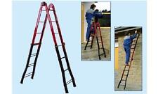 Scale scala telescopica trasformabile Step Up acciaio mt. 3,80 gradini 4+4