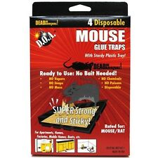 Lot Of 4 Mice Mouse Sticky Glue Traps Trays