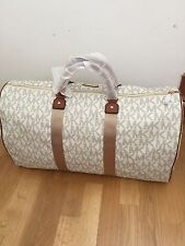 Michael Kors Signature Vanilla Travel Duffle Bag