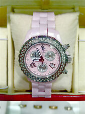 NEW TECHNO KC JPM CERAMIC DIAMOND CRHONOGRAPH DATE WATCH