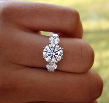 1.90 Ct. Natural Round Cut 5-Stone Diamond Engagement Ring - GIA Certified
