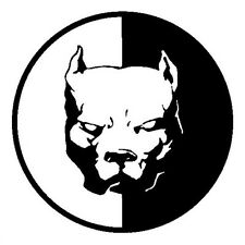 2*Waterproof Auto Pitbull Superhero Dog Bulldog Dog Reflective Black Car Sticker
