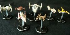 Star Wars Miniatures Game Lot -  Tie Bomber - Y-Wing - Naboo Starfighter &