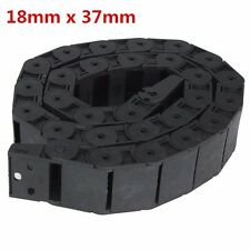 18mm x 37mm Openable Plastic Cable Drag Chain 1M Long Wire Carrier Drag Chain