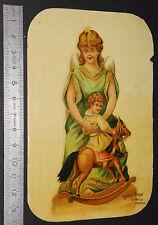 CHROMO 1890-1910 CHOCOLAT POULAIN MERE ET ENFANT CHEVAL A BASCULE