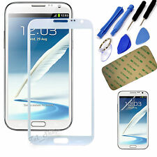 White Touch Screen Outer Glass Lens Cover for Samsung Galaxy Note2 II N7100+Tool