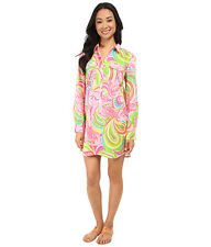 Lilly Pulitzer Captiva Tunic ALL NIGHTER Pink Size XS NWT Flamingo