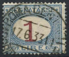 Italy 1870-1925 SG#D33, 1L Postage Due Numeral Shift Error Used #D8774