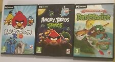 3 X PC CD-ROM Juegos Angry Birds Rio + Angry Birds Space & Bad Piggies por Rovio