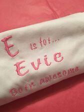 Nome personalizzata con cappuccio BABY GROW / Sleepsuit, Vestito, RICAMO NEONATO REGALO