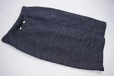 NWT $725 Burberry London Long Navy Skirt Bow sz US 8 UK 10 EU 42