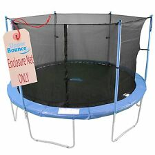 12' Trampoline Enclosure Safety Net Fits Round Frames Using 6 Poles or 3 Arches