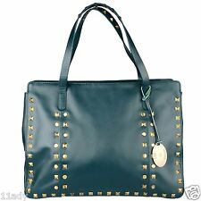 BNWT LEATHER T & K BOUTIQUE TOMMY KATE VEGAS LTD EDITION LARGE TEAL WEEKEND BAG